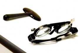ブロッカーと視力測定用メガネ